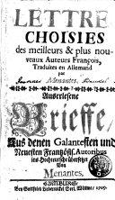 Auserkesene Brieffe, Aus denen Galantesten und Neuesten Frantzösis. Autoribus