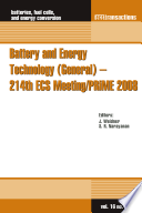 Battery And Energy Technology General 214th Ecs Meeting Prime 2008 Book PDF