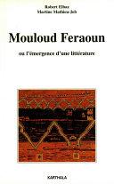 Pdf Mouloud Feraoun ou l'émergence d'une littérature Telecharger