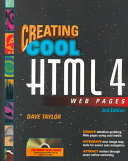 Cover of Creating Cool HTML 4 Web Pages