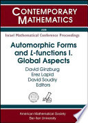 Automorphic Forms And L Functions Global Aspects