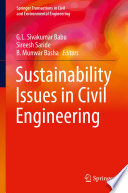 Sustainability Issues In Civil Engineering Book PDF