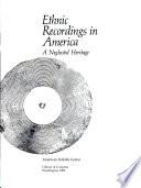 Ethnic Recordings in America