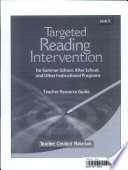 Targeted Reading Intervention Book PDF