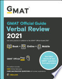 GMAT Official Guide Verbal Review 2021  Book   Online Question Bank and Flashcards