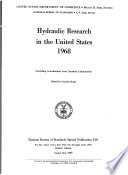 Hydraulic Research in the United States 1968