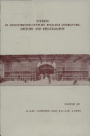 Studies in Seventeenth-century English Literature, History and Bibliography