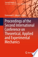 Proceedings of the Second International Conference on Theoretical  Applied and Experimental Mechanics