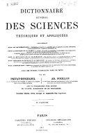 Dictionnaire général des sciencies théoriques et apliquées...