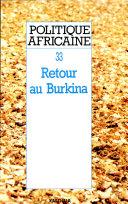 Pdf POLITIQUE AFRICAINE N-033 - Retour au Burkina Telecharger