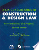A State by state Guide to Construction   Design Law Book