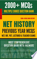 NET JRF History Solved Question bank based on Previous Papers With Instant Answer Key