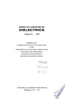 Digest Of Literature On Dielectrics