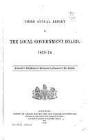 Annual Report of the Local Government Board