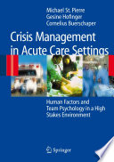 Crisis Management in Acute Care Settings Book