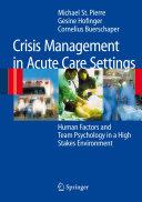 Crisis Management in Acute Care Settings Pdf/ePub eBook