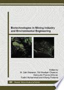 Biotechnologies in Mining Industry and Environmental Engineering Book