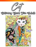 Cat Coloring Book for Adults Book