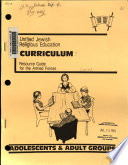 Unified Jewish Religious Education Curriculum  Adolescent   adult groups Book PDF