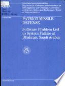 Patriot Missile Defense Book