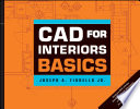 Cover of CAD for Interiors Basics, with DVD