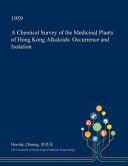 A Chemical Survey of the Medicinal Plants of Hong Kong Alkaloids