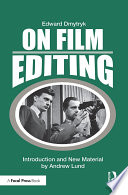 On Film Editing Book