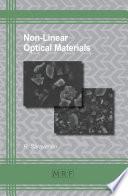 Non Linear Optical Materials