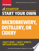 Start Your Own Microbrewery  Distillery  or Cidery