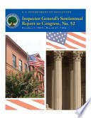 Inspector General Semiannual Report To Congress No 52