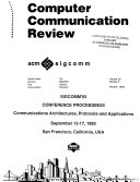 SIGCOMM     Conference Proceedings Book