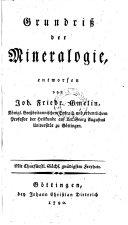 Grundriß der Mineralogie