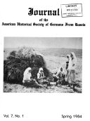 Journal of the American Historical Society of Germans from Russia Book