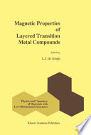 Magnetic Properties of Layered Transition Metal Compounds Book