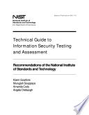 Technical Guide to Information Security Testing and Assessment