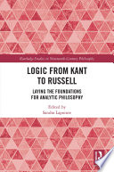 Logic from Kant to Russell
