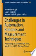Challenges in Automation  Robotics and Measurement Techniques