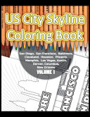 US City Skyline Coloring Book Book