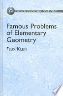 Famous Problems of Elementary Geometry