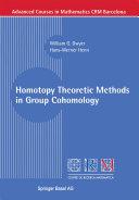 Homotopy Theoretic Methods in Group Cohomology