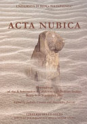 Acta Nubica: proceedings of the X International Conference of Nubian ...