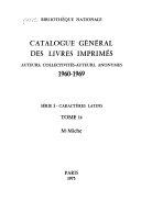 Catalogue général des livres imprimés
