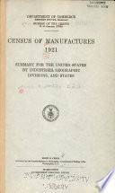 Census Of Manufactures