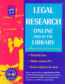 Legal Research Online and in the Library Book
