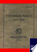 Spare Parts Lists For The Mg Magnette Book PDF