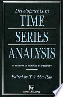 Developments in Time Series Analysis Book