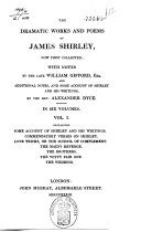 The Dramatic Works and Poems of J. Shirley