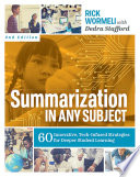 Summarization In Any Subject Book PDF