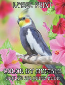 Large Print Color By Number Adults Coloring Book