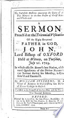 The Catholic Doctrine Concerning The Union Of The Two Natures In Christ A Sermon On John I 14 Second Edition